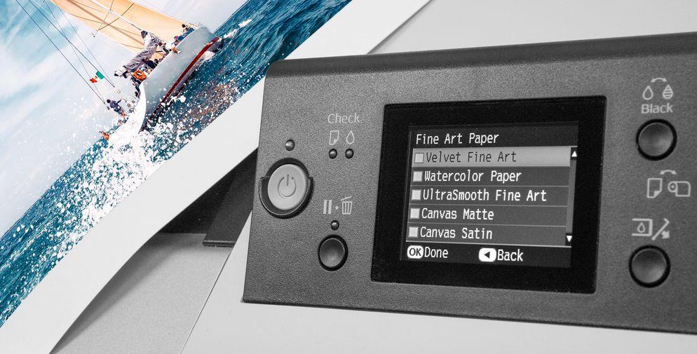 Epson High Quality Print auf Leichtschaumplatte