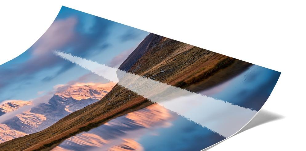 Echtes Fotopapier - Abzug Kaschiert hinter Acrylglas