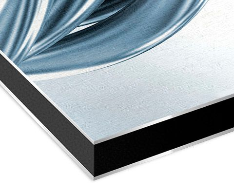 Material Alu-Dibond Butlerfinish Trägerplatte
