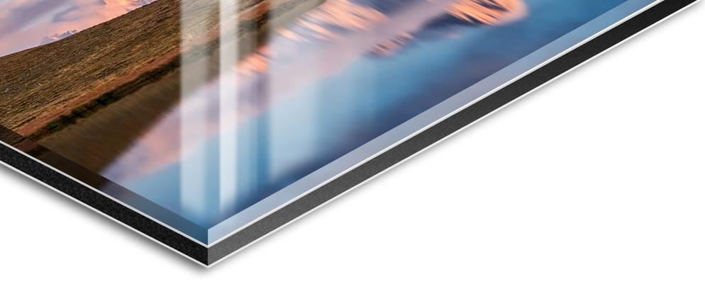 Echtes Foto hinter Plexiglas mit Alu Rückwand