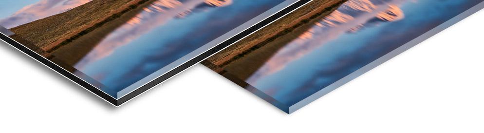 Varianten Kaschierung Foto hinter Acrylglas