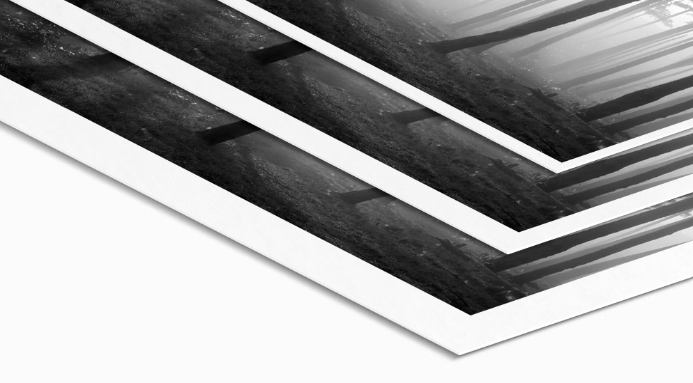Baryt Fotopapier mit umlaufenden Weißrand