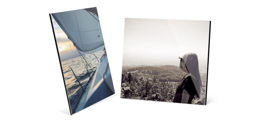 Fotoaufsteller für Alu-Dibond