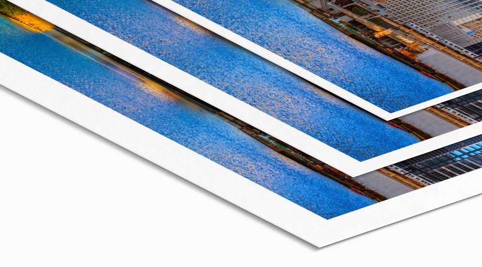 Weißrand Fuji Premium Poster
